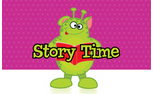 Leo the Alien Story Time Graphic