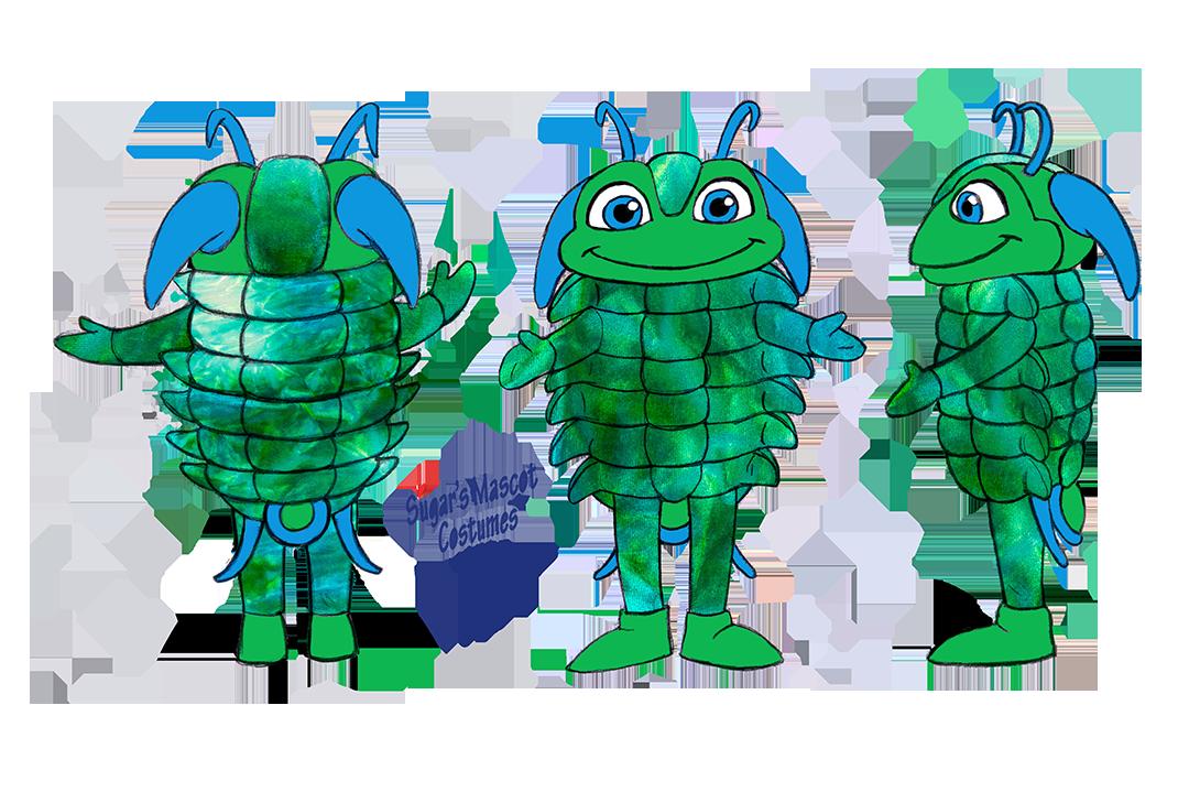 Manuels river trilobite Final Sketch by Sugar's Mascot Costumes