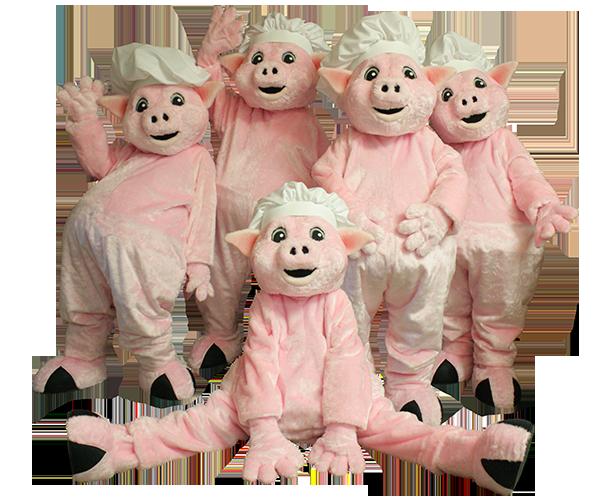 Famous Daves Wilbur Mascot Costumes