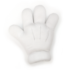 Cartoon Glove – White