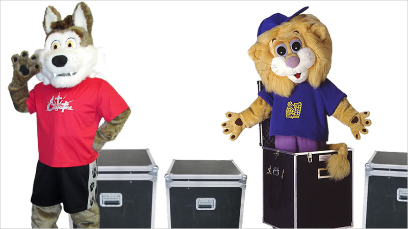 Shipping custom mascot costumes