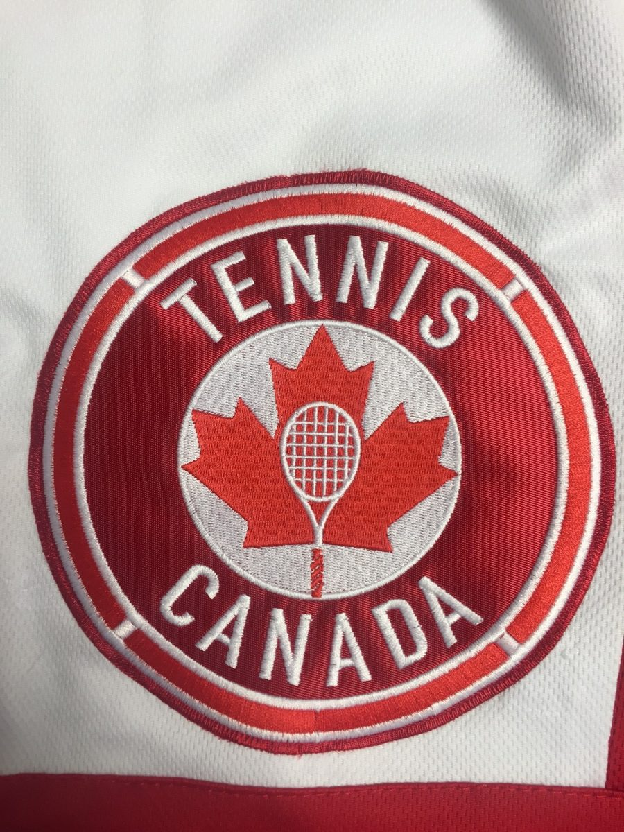 Clean lines shown in this Tennis Canada logo work well with embroidery.