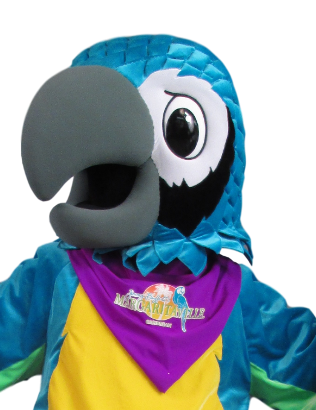 Margaritaville has a detailed heat-pressed logo placed on the neckerchief!